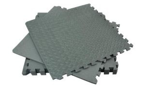 Black industrial interlocking mats