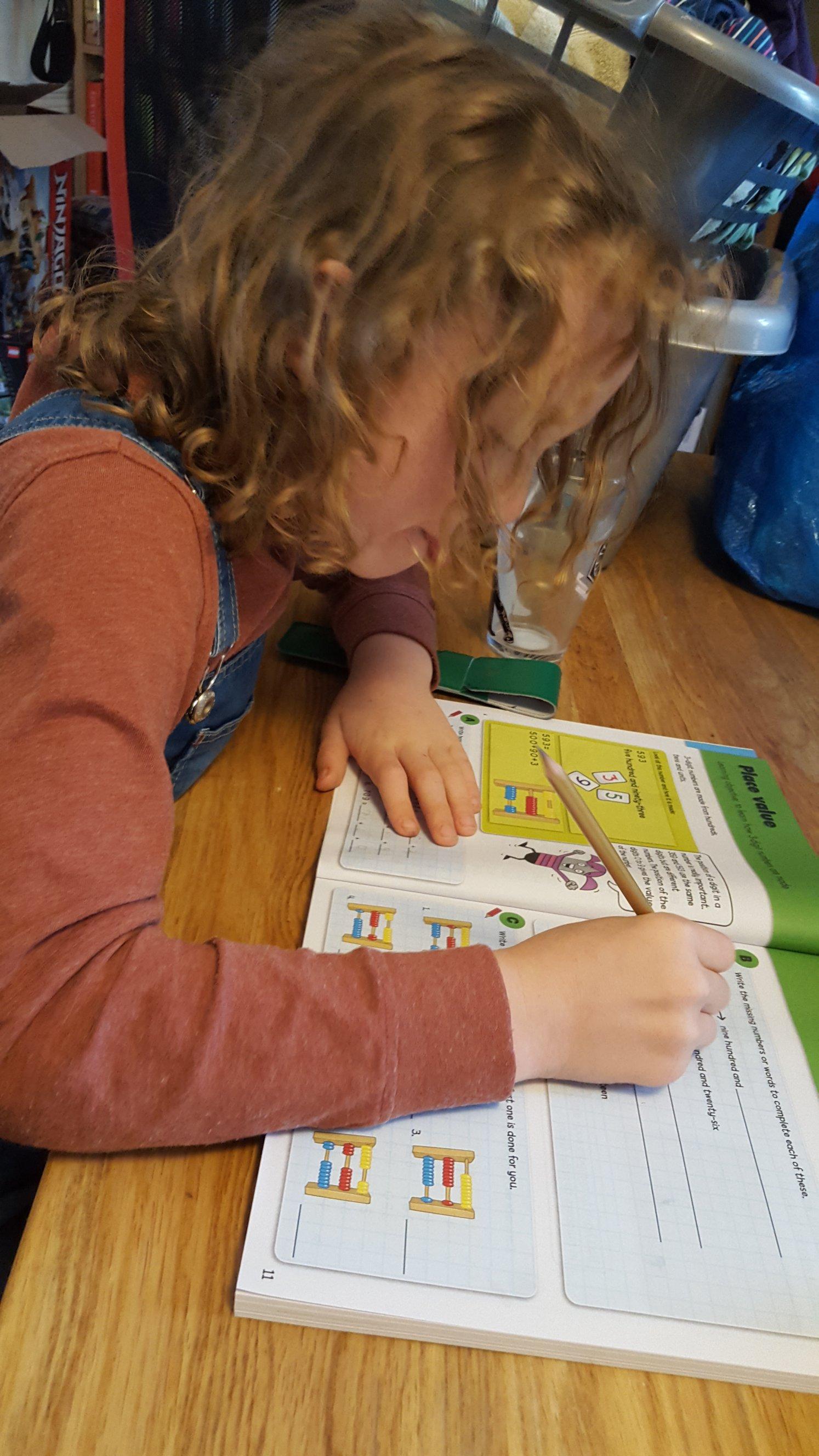 Completing a worksheet
